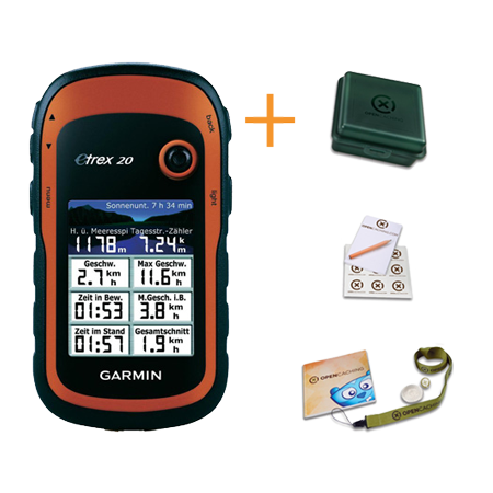 Garmin eTrex 20 + Geocaching Kit